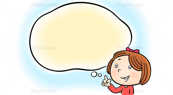 Child With Talking Bubble Clipart.