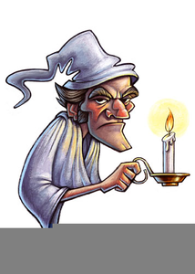 Christmas Carol Scrooge Clipart.