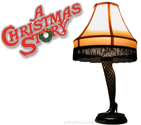A christmas story leg lamp clipart.