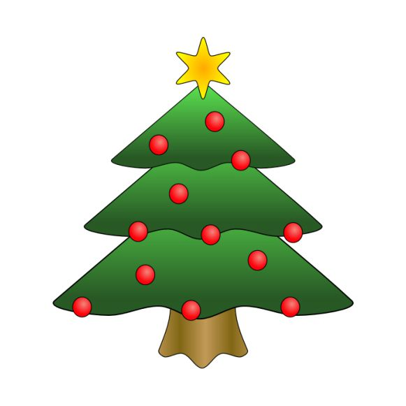 The Best Free Christmas Tree Clip Art Images.