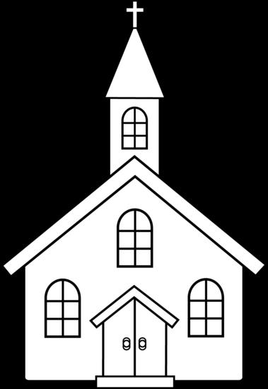 Little Church Line Art.