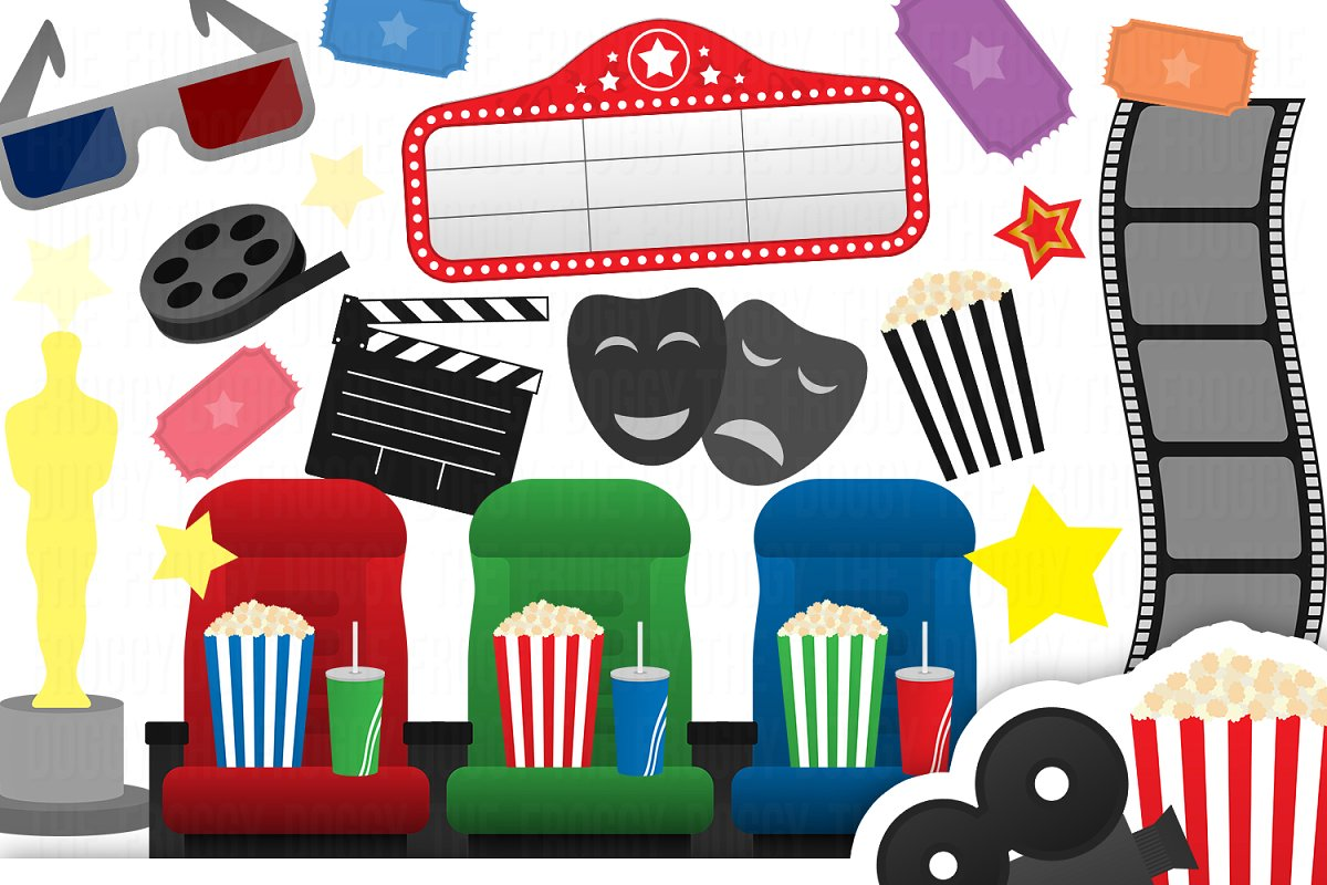 Cinema Clipart Collection.