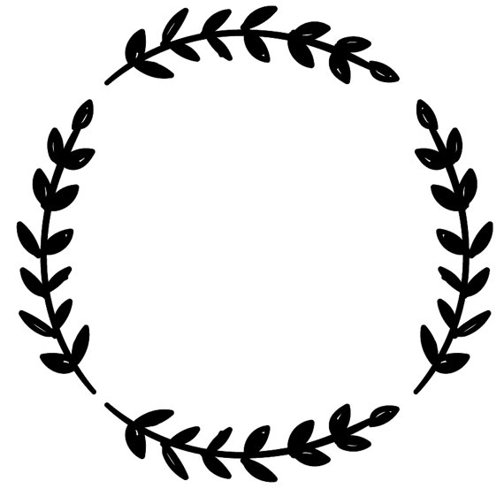 Circle Of Leaves Clipart.