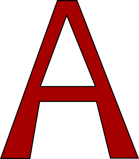 Red Letter A Clipart.