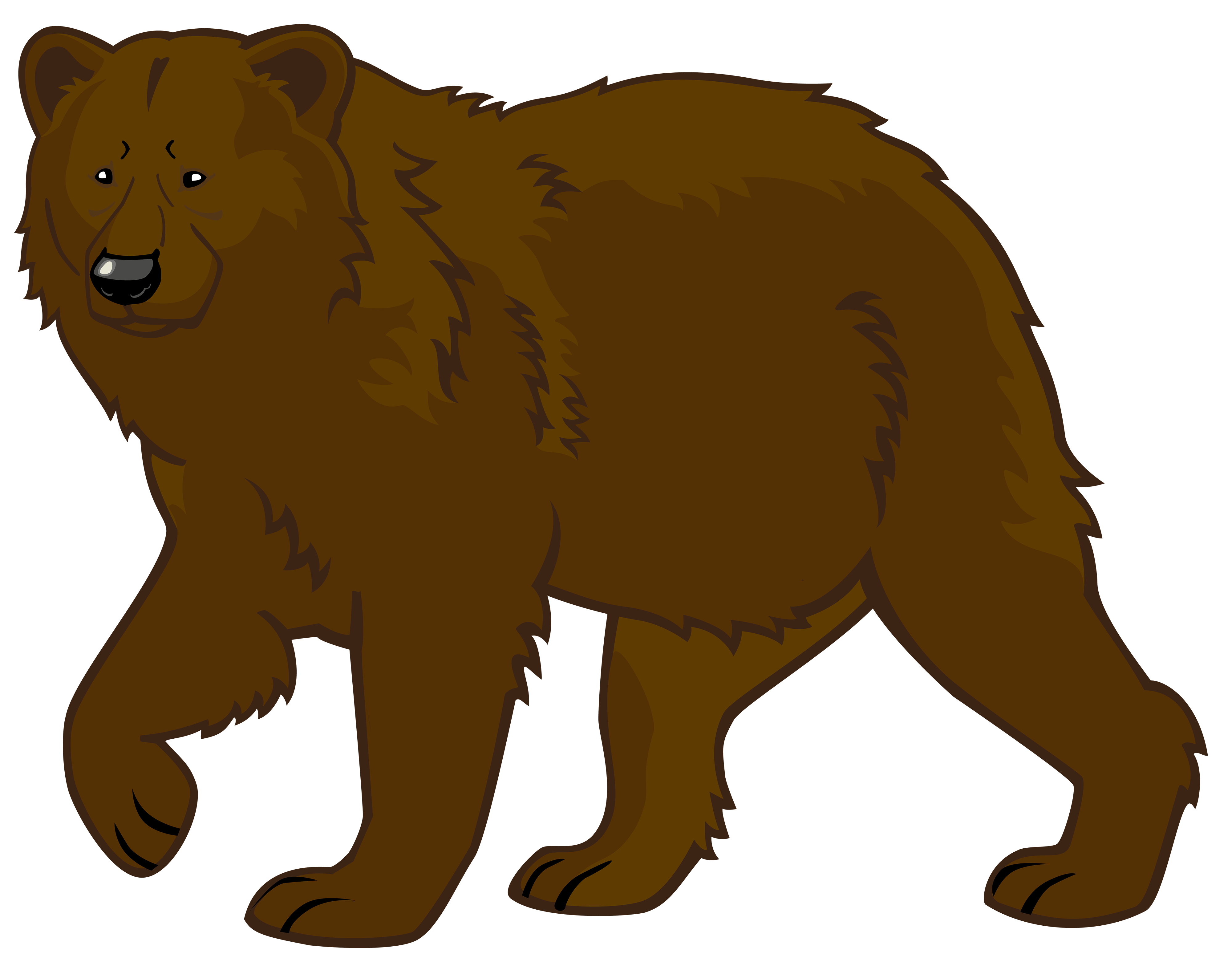 Brown Bear PNG Clipart.