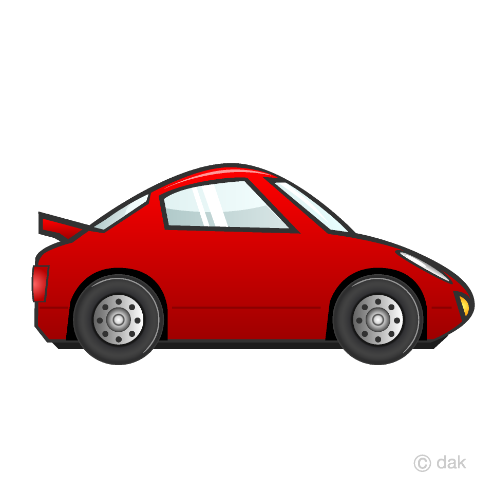 Free Red Sports Car Clipart Image|Illustoon.