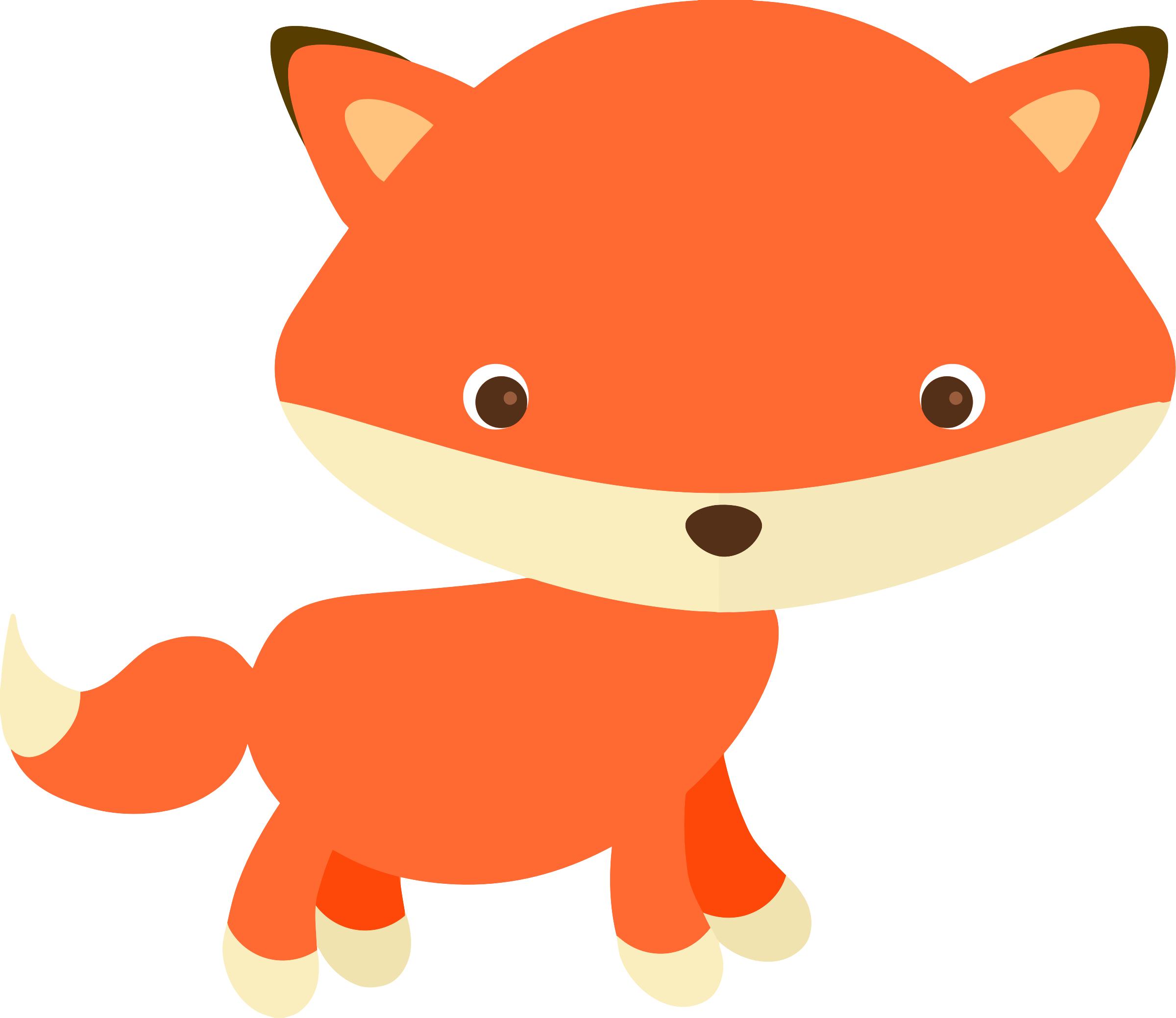 313 Cute Fox free clipart.