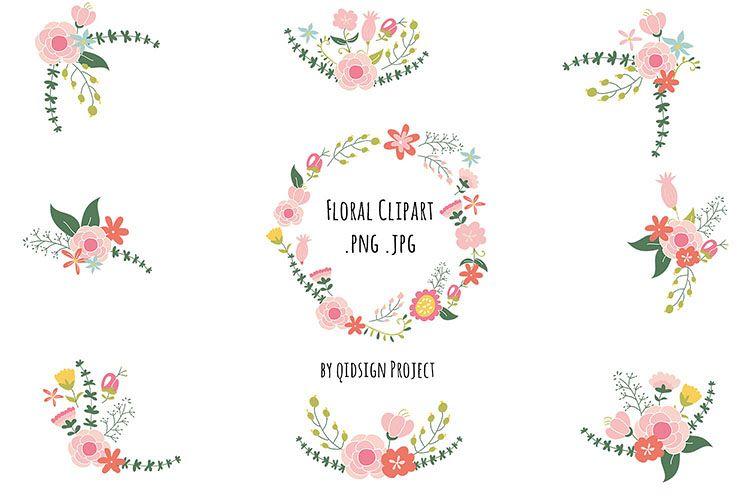 Floral Clipart , Wedding invitation images, Vintage Flower.