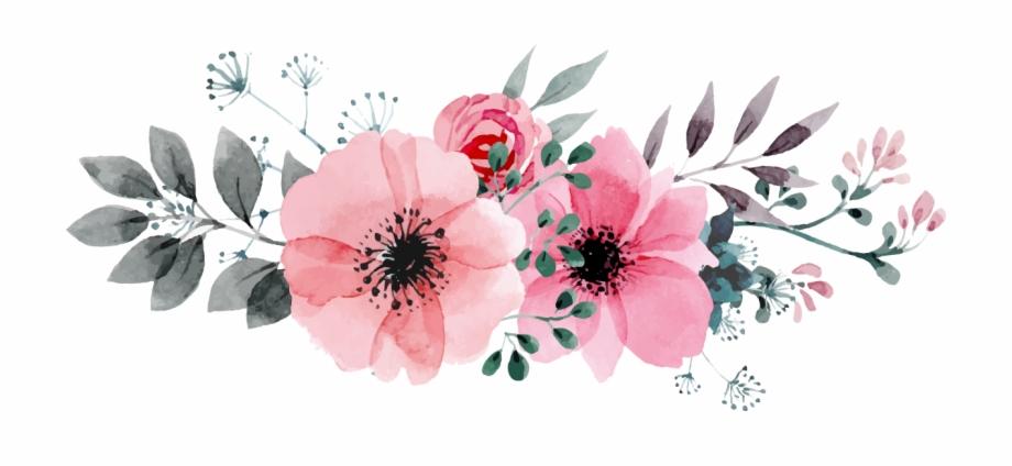Flowers Vectors Clipart Png Image 05.