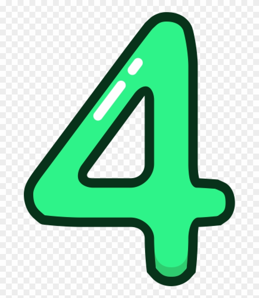 Number Four Clipart Clipart Source.
