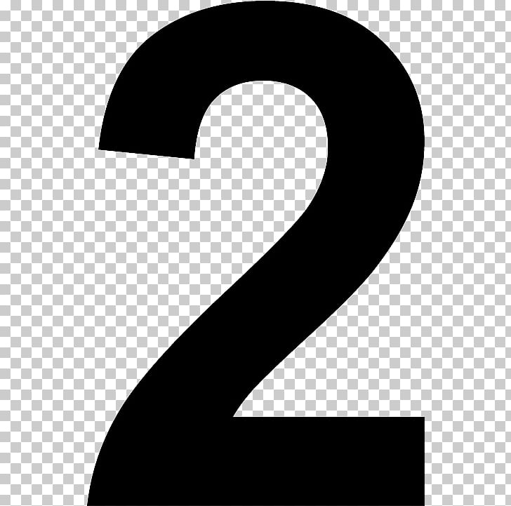 Number 2 Two PNG clipart.
