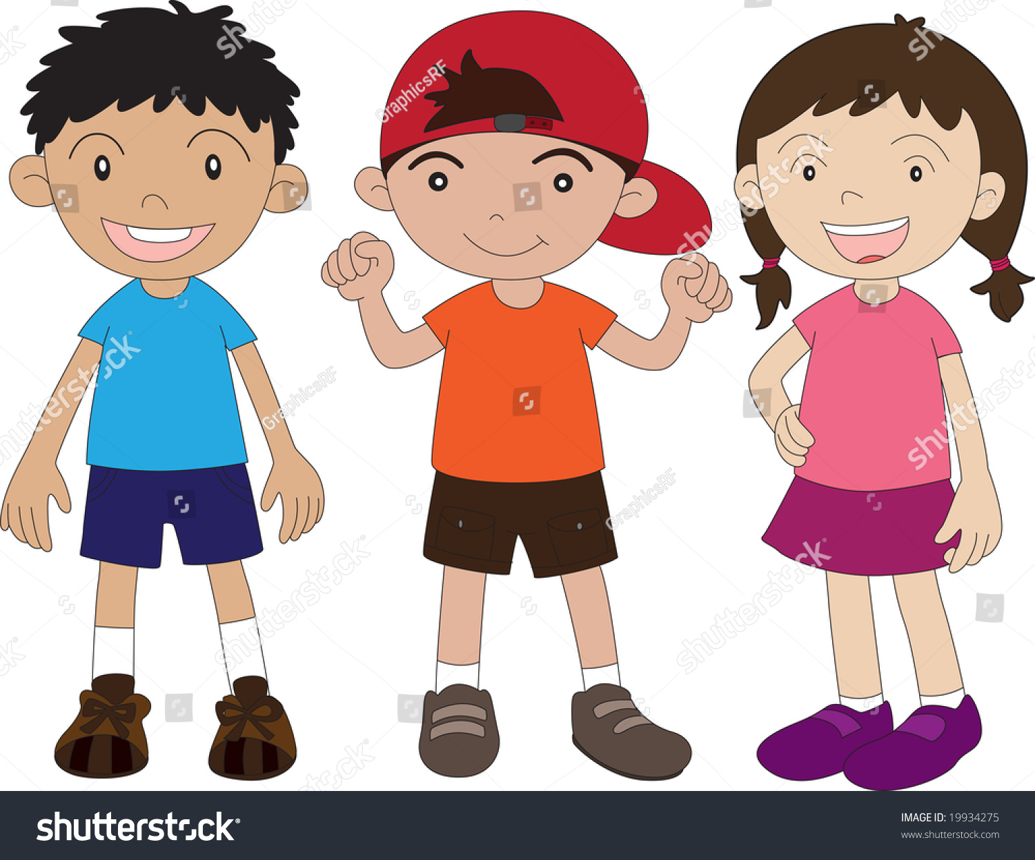 2 Boys And A Girl Clipart.
