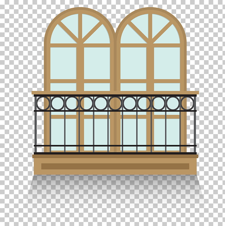 Balcony Euclidean , outdoor balcony guardrail PNG clipart.