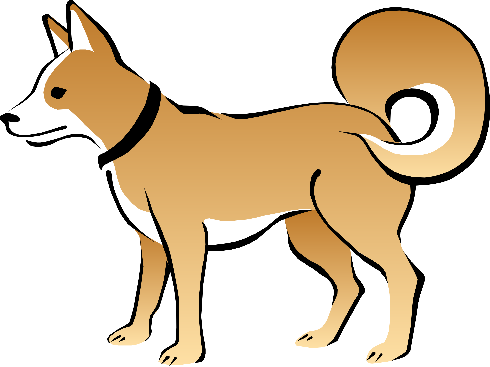 Cute Dog And Cat Clip Art.
