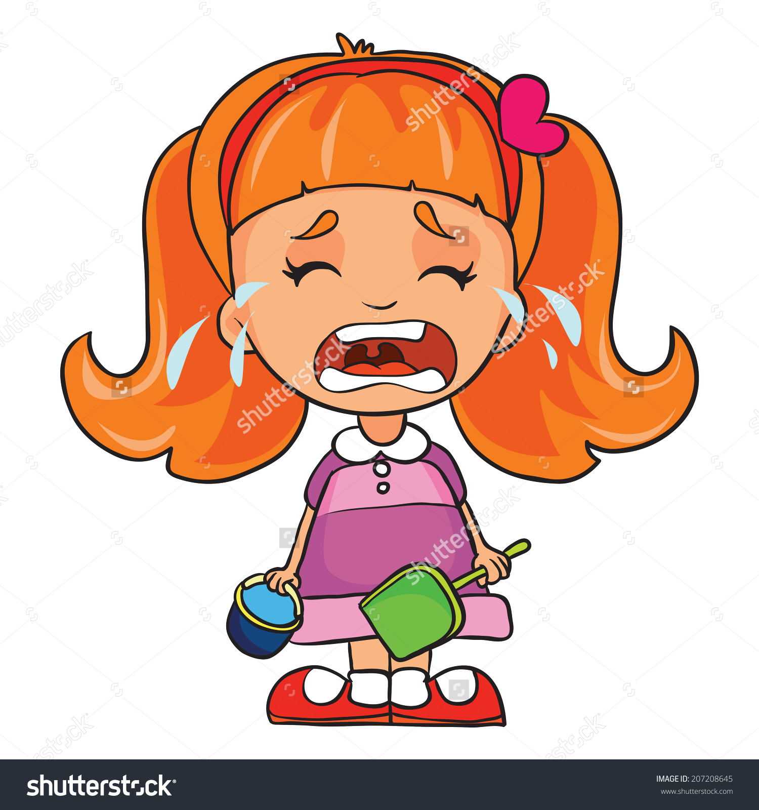 Clipart Of A Girl Crying.