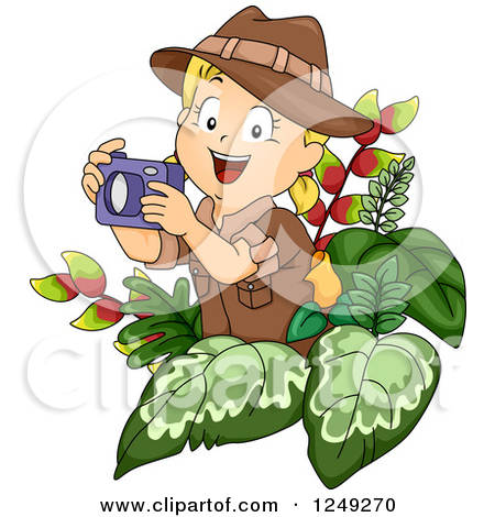 A Clipart Of A Girl Being Adventurous.