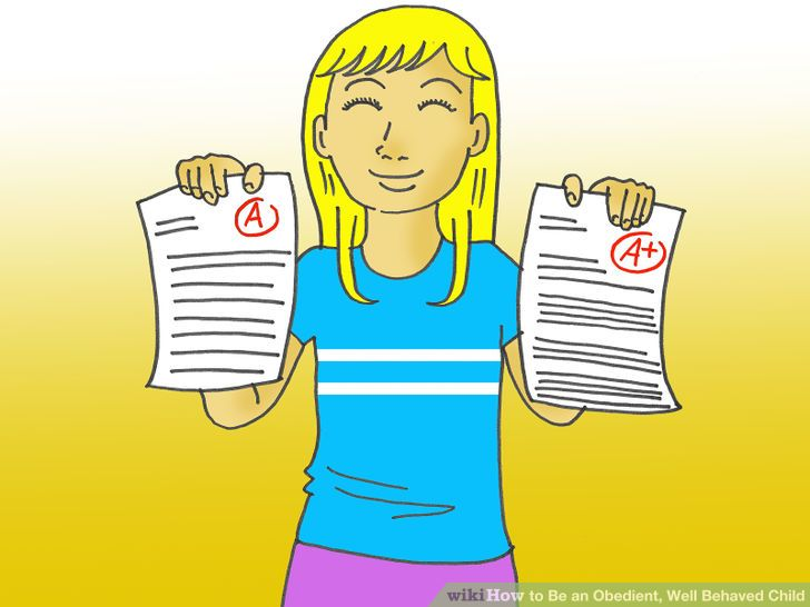 A Clipart Of A Girl Being Obedient.