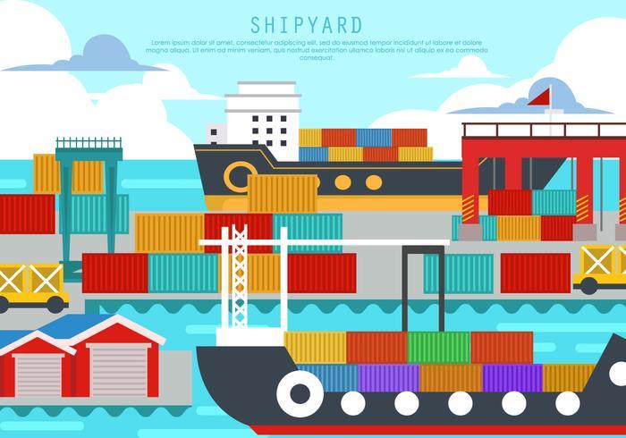 Shipyard In The Harbor.
