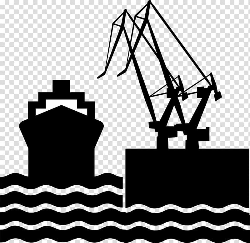 Black oil tanker illustration, Port Harbor , pier.