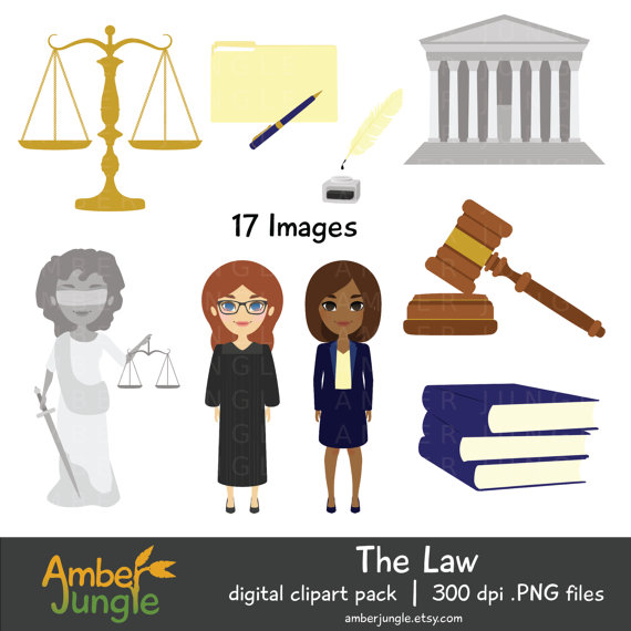 This law clipart set includes 17 cute legal system.