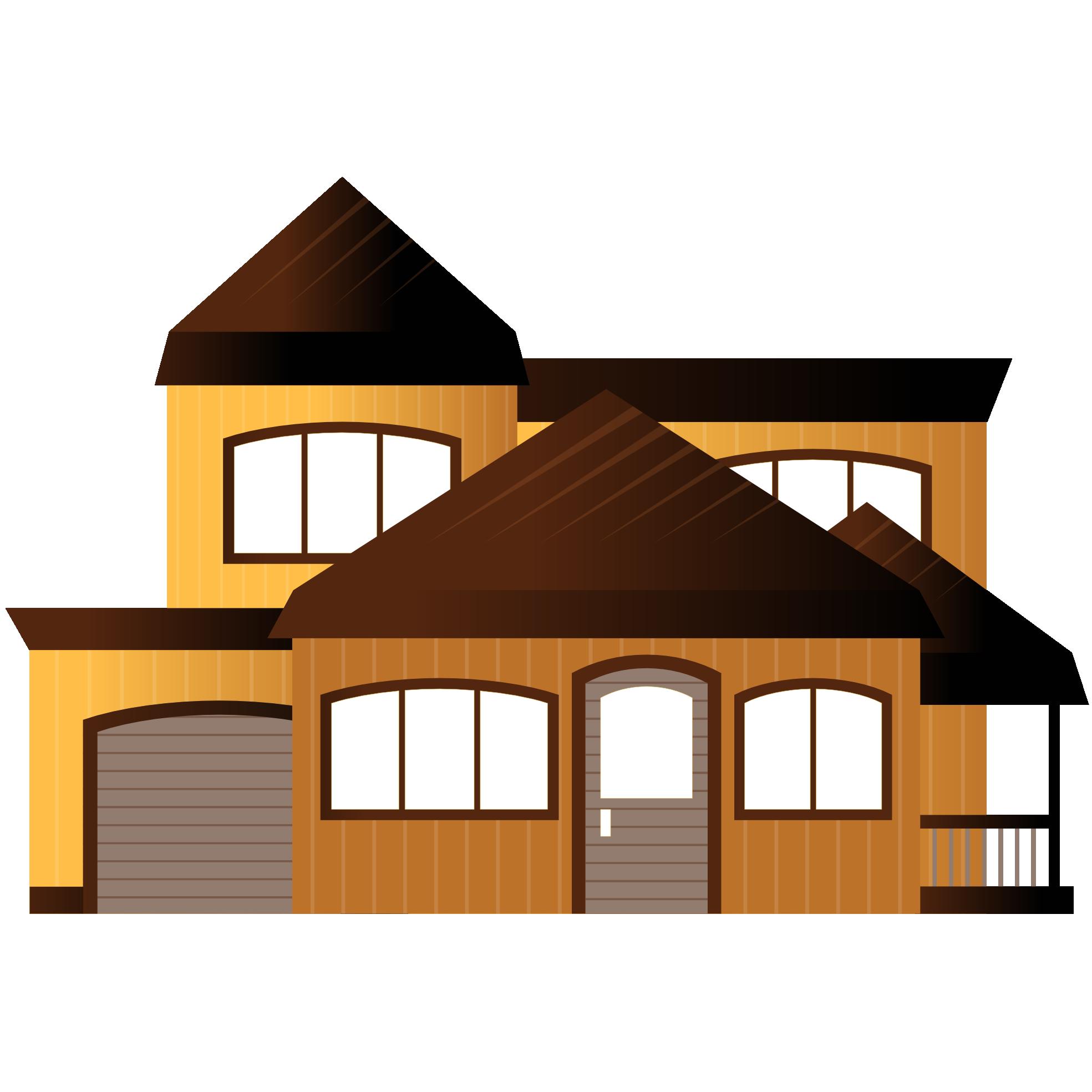 Mansion clipart house design, Mansion house design.