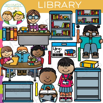 School Library Clip Art.