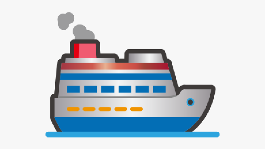 Cruise Ship Clipart Emoji , Transparent Cartoon, Free.