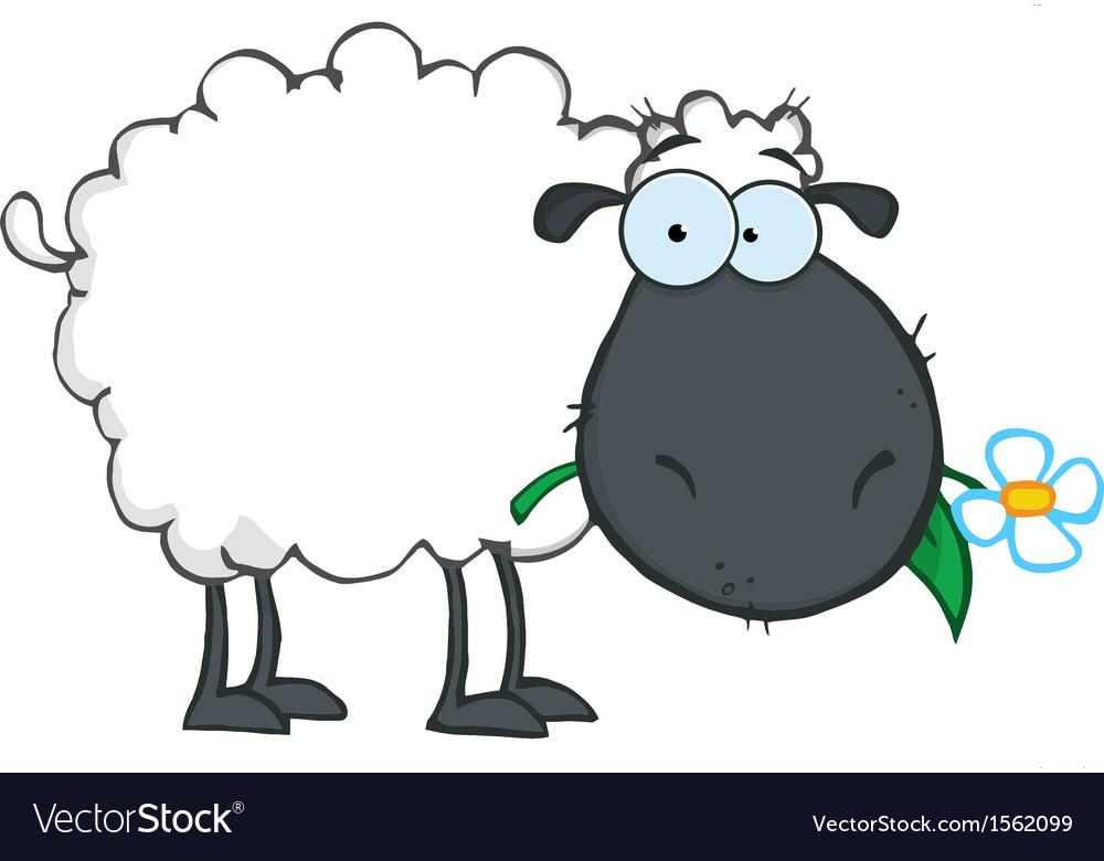 Royalty Free RF Clipart White Sheep Cartoon.
