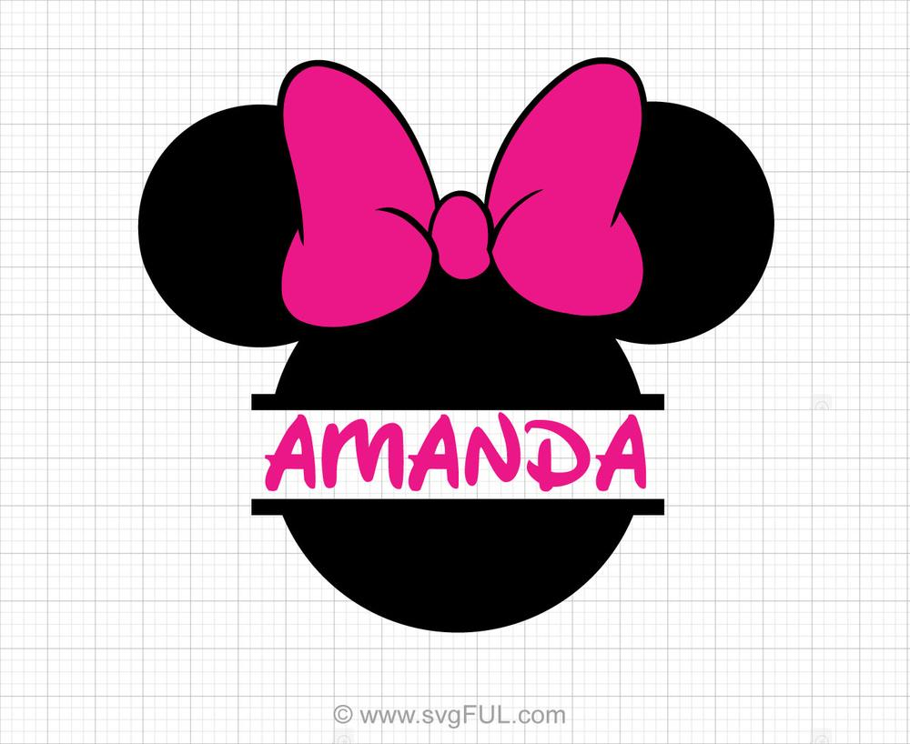 Minnie Mouse Monogram Svg Clipart.