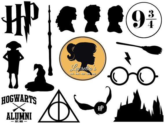 Harry Potter SVG, Harry Potter dxf, harry potter clipart.