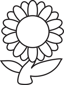 Flower Clipart Colouring.