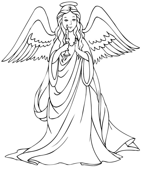 Free Printable Coloring Pages For Adults Angels.
