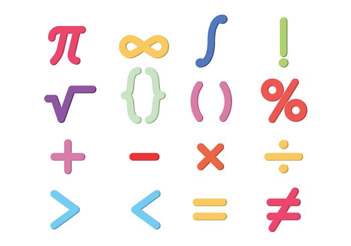 Math Symbols Vector.
