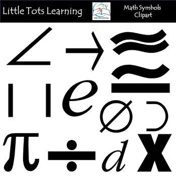 Math Symbols Clip Art.