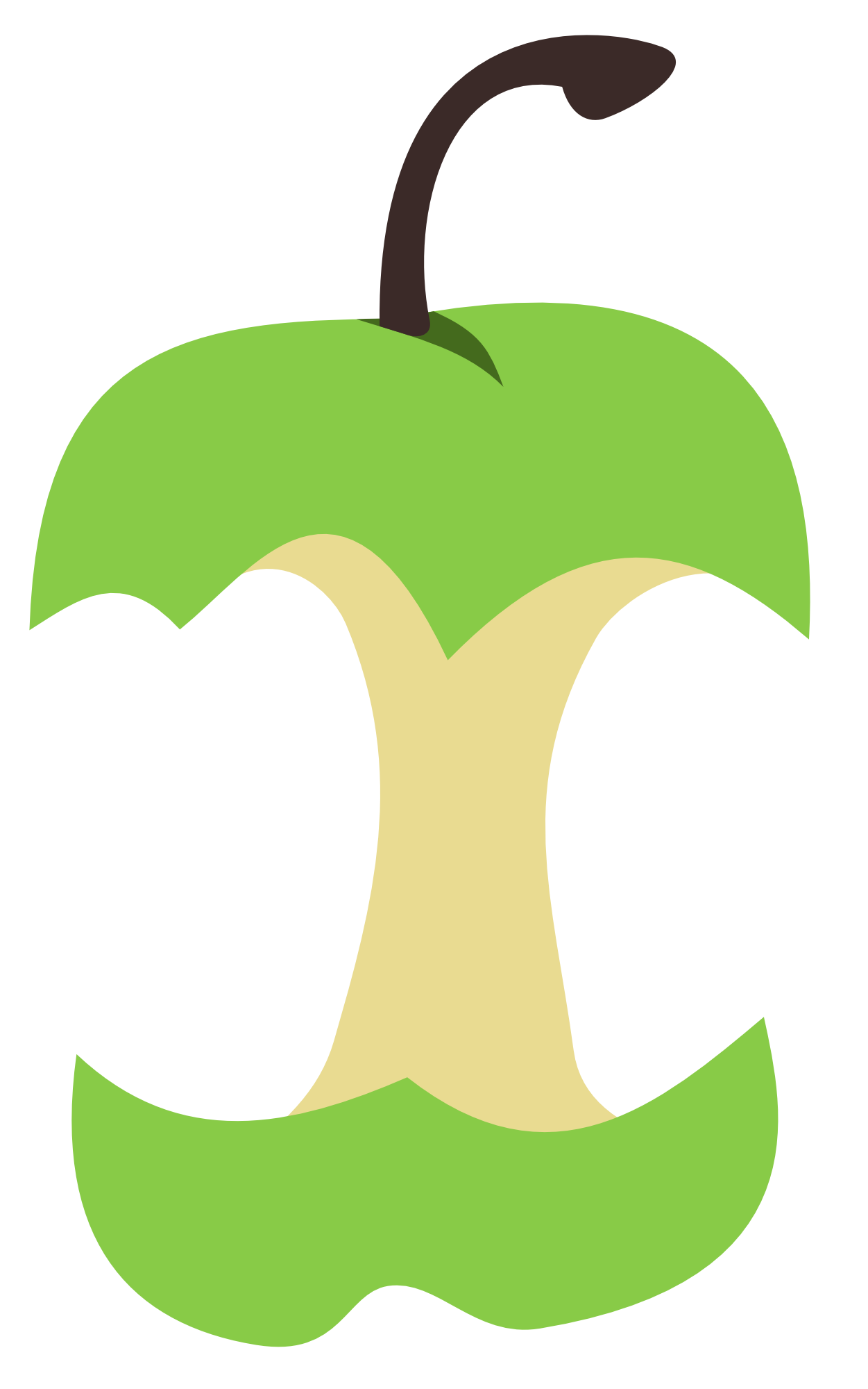 Free apple core clipart images.