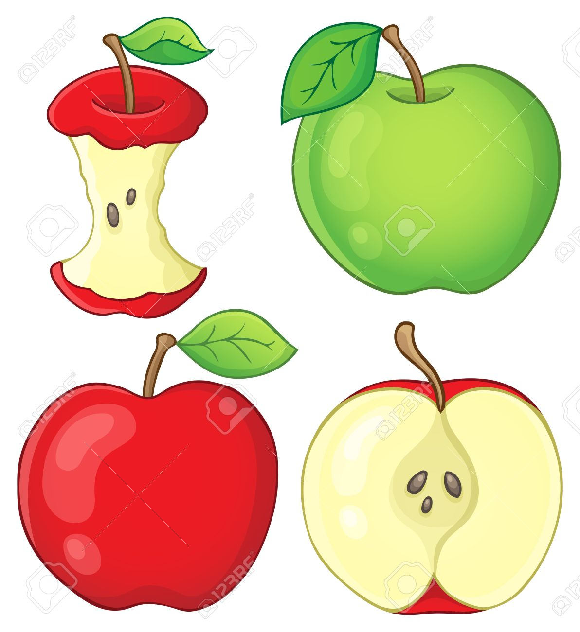 Various Apples Collection Royalty Free Cliparts, Vectors, And.
