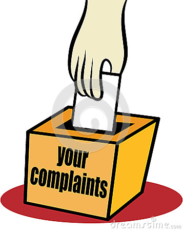 Clipart complaint department.