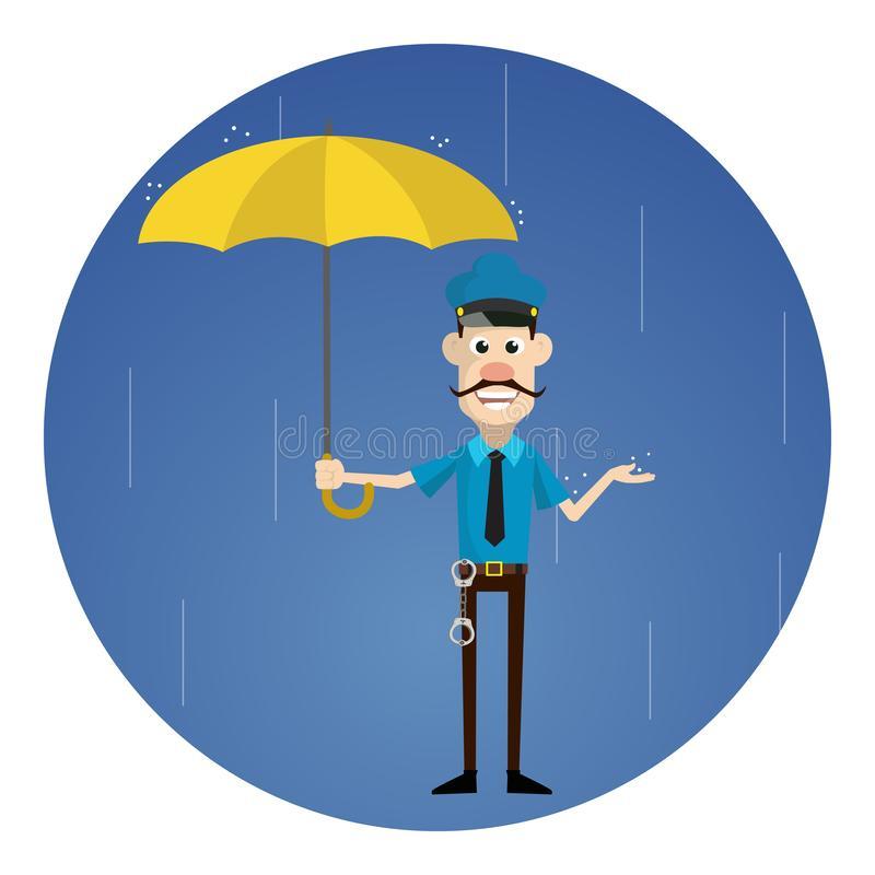 Standing Rain Stock Illustrations.