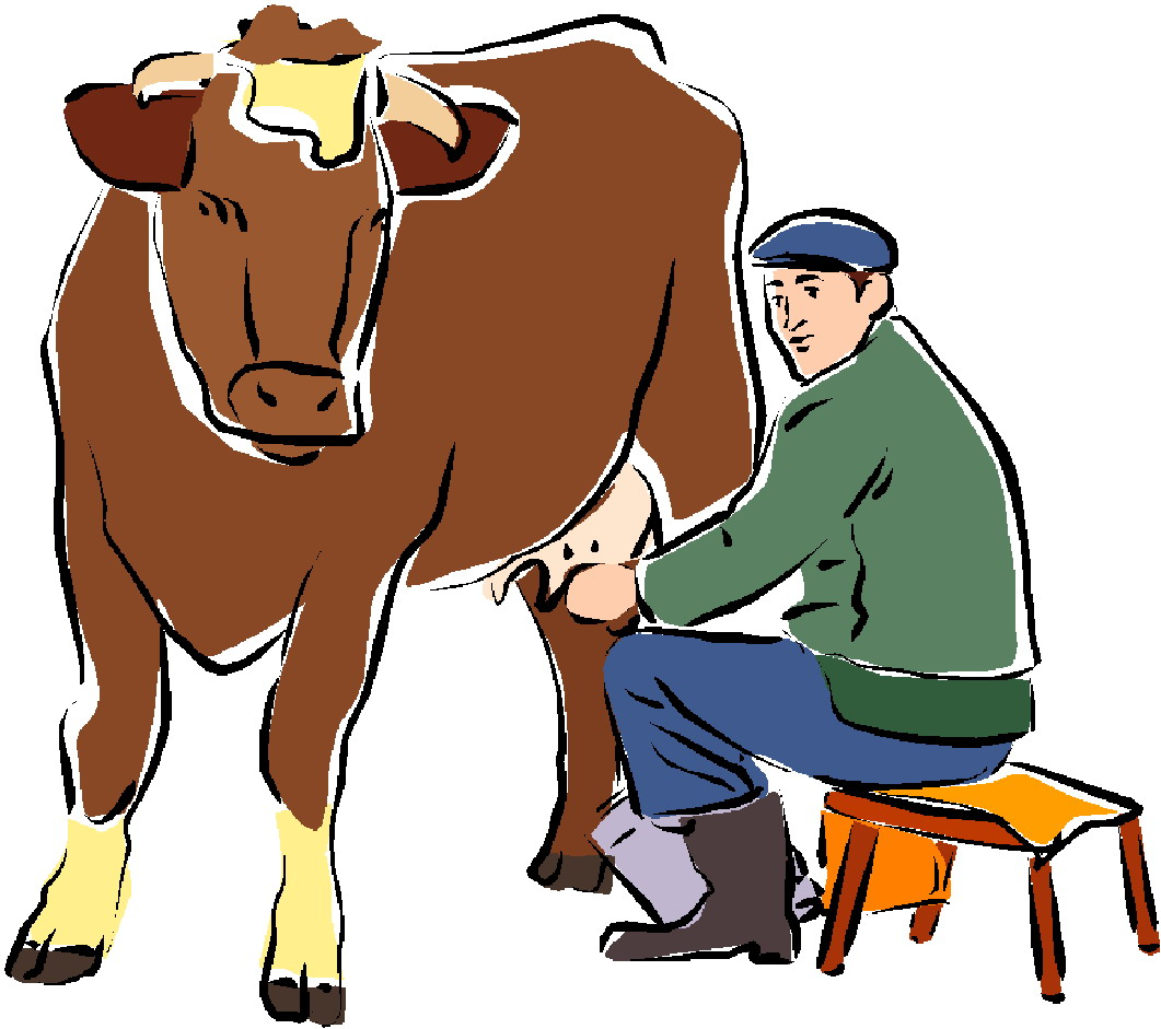 Milk The Cow Clipart.