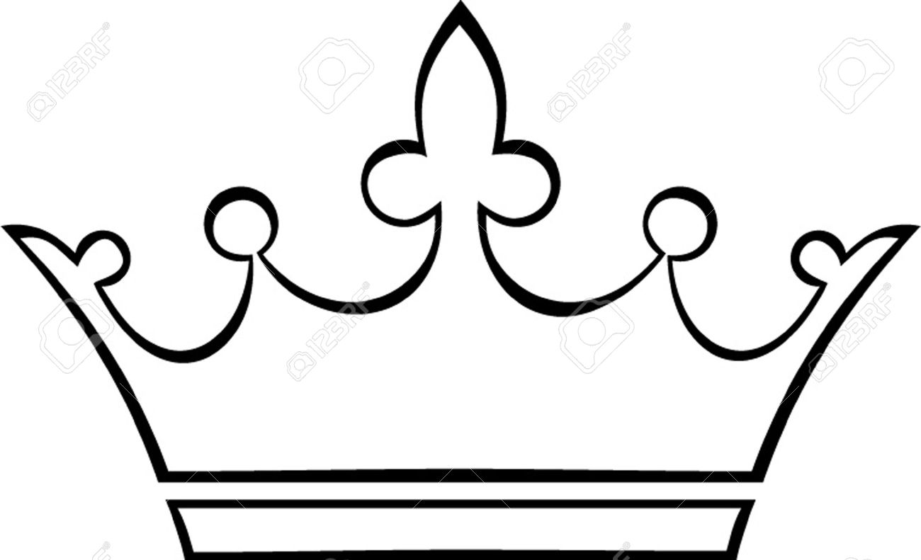 Crown Black And White Clipart.