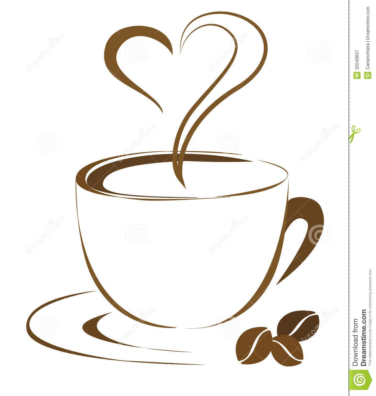 Coffee Cups Clipart Heart coffee cup clip art.