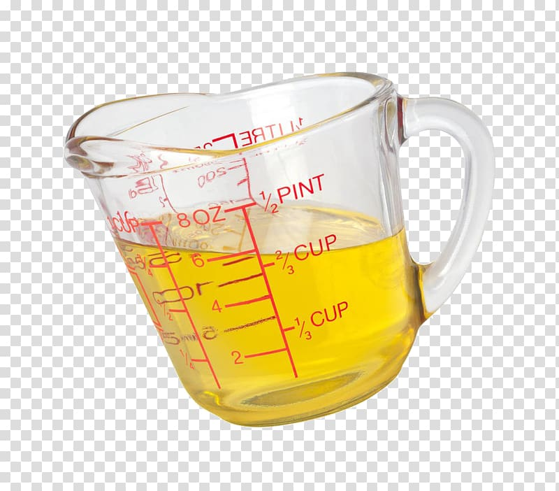 Measuring cup Cooking oil Measurement , A cup of olive oil.