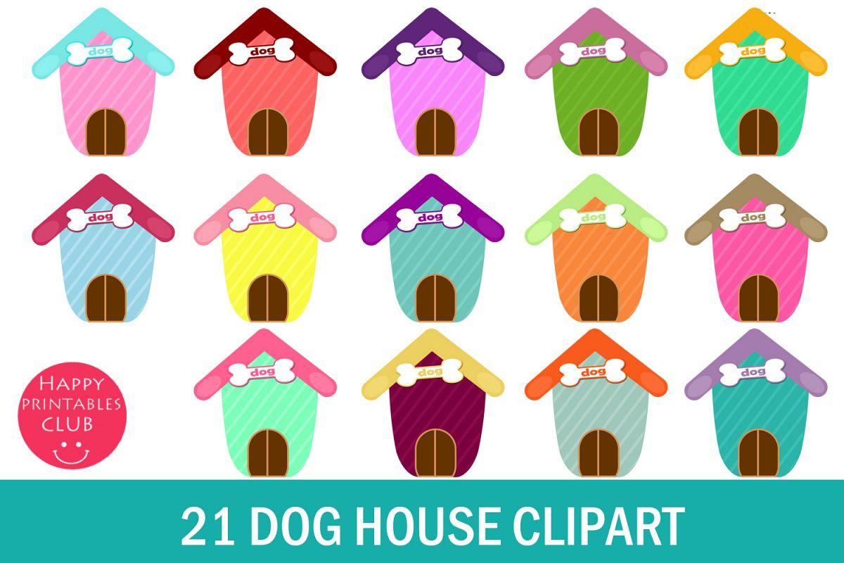 21 Cute Dog House Clipart.