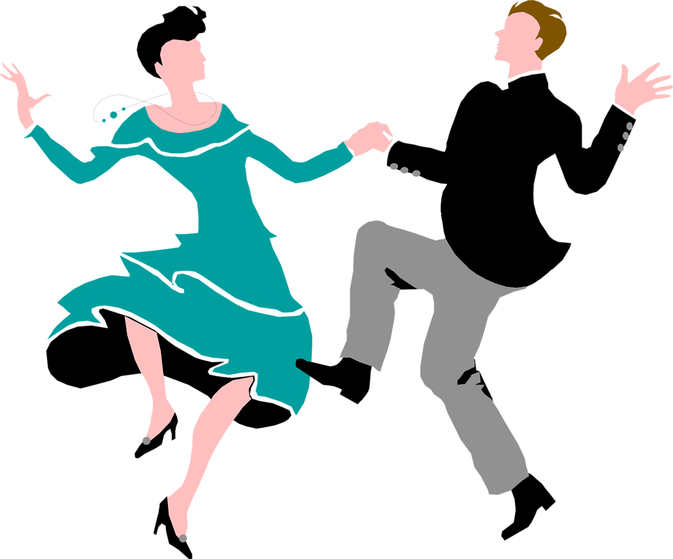 Ballroom dance Swing Clip art.