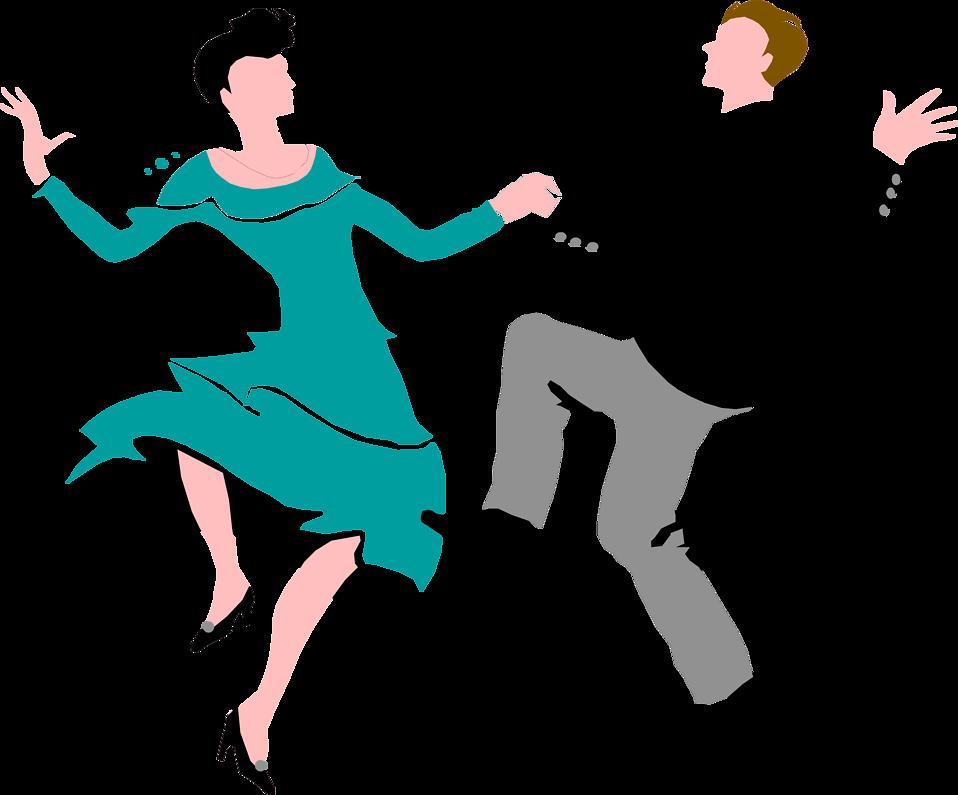 Ballroom dance Swing Clip art.
