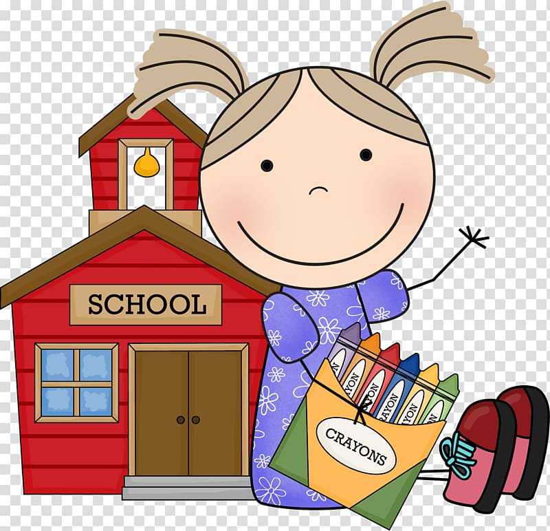 First Day Of School transparent background PNG cliparts free.