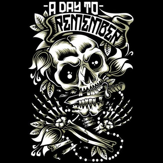 A day to remember tee shirt clipart.