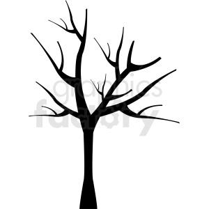 dead tree design clipart. Royalty.