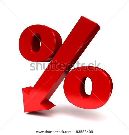 Percent Decrease Clipart.