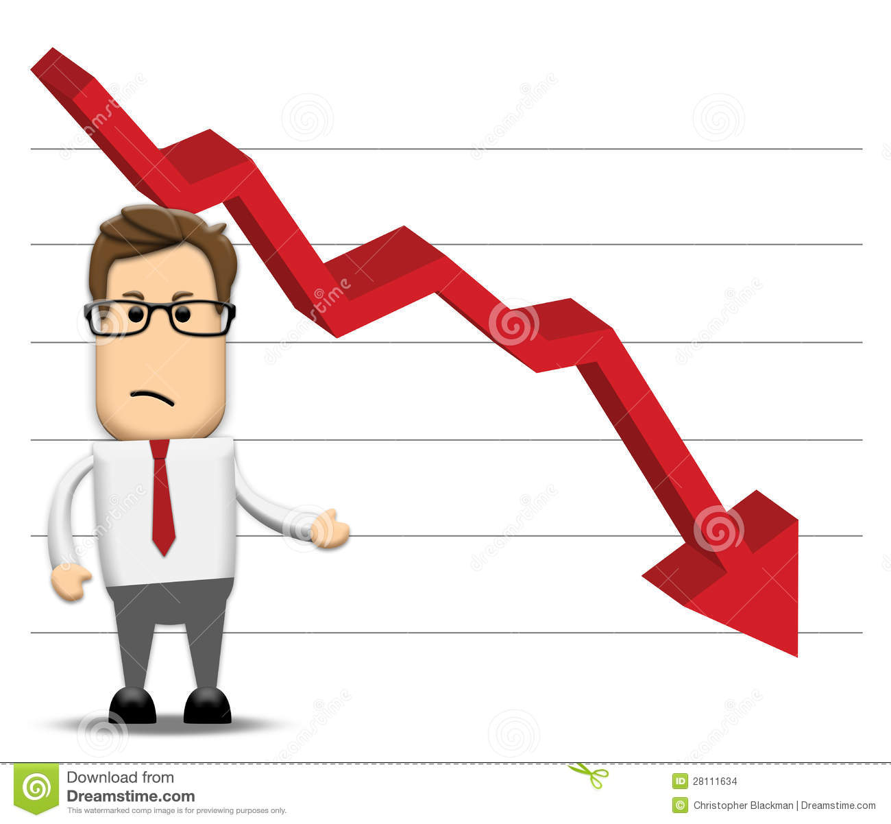 Graph Negatively Decreasing Stock Images.